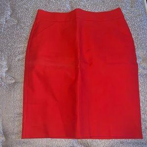 BRAND NEW!! J Crew Burnt Orange Pencil Skirt